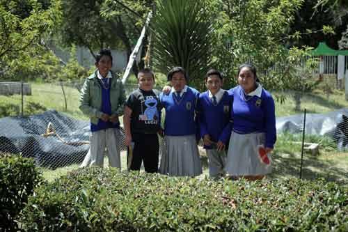 Escuela jóvenes telesecundaria biodigestores tecnología desechos humanos biogas sustentabilidad manejo camaroni producciones videografías sociales reportaje tlaxcala sistema biobolsa